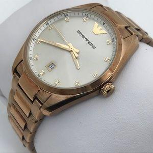 Emporio Armani Men Watch Gold Tone Date Calendar